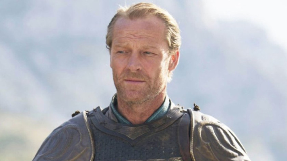 Jaime v Jorah. Jorah in armour, ready to beat Jaime in the final