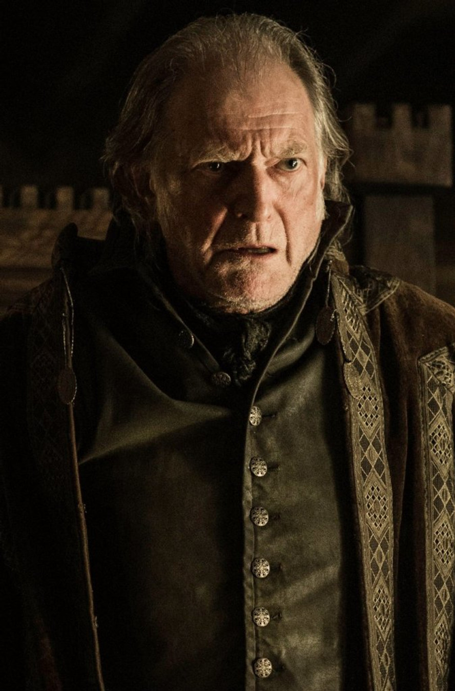 "'The Northmen Are Honourable; They Never Break Their Vows,'… Lies, All Of It!"" is the furious response of Lord Walder, played by David Bradley."