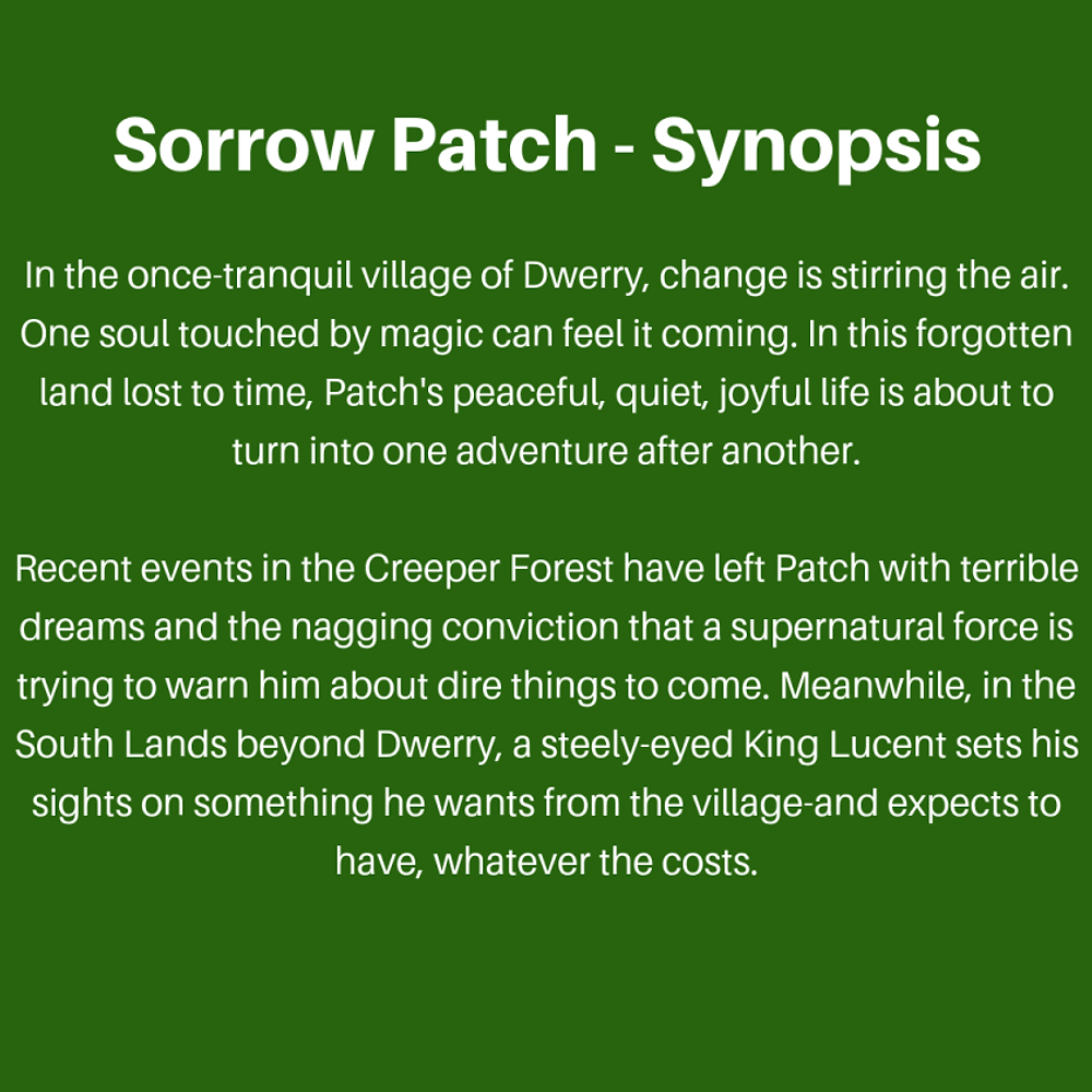 This is the synopsis of Sorrow Patch, as part of the interview with Author Zion Blue