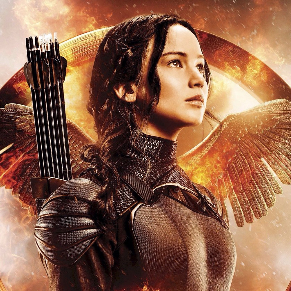 An example for the eighth of the nine great pointers on how to create a compelling central protagonist is Katniss