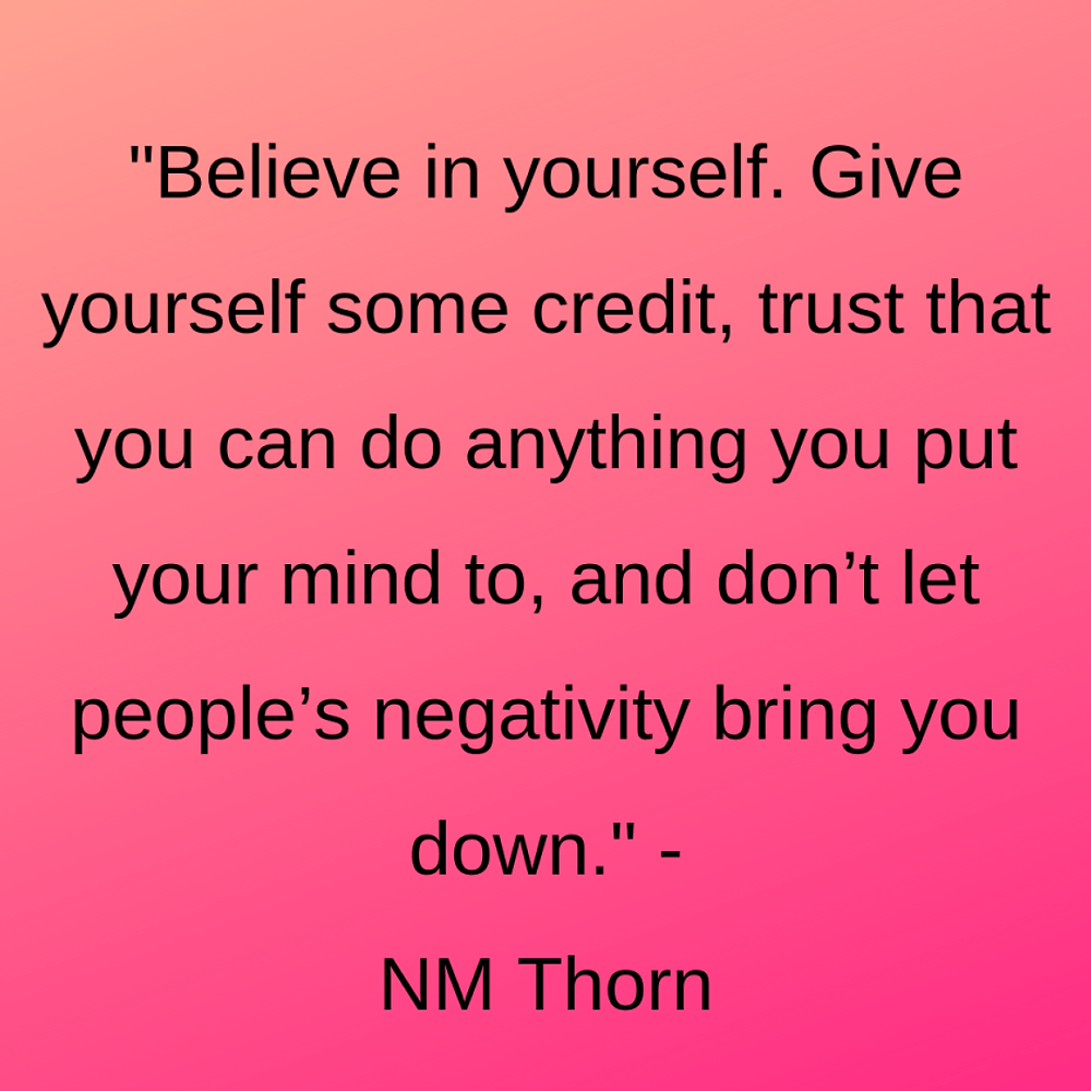 wise words said during the interview with author nm thorn