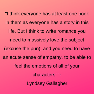 Advice from author Lyndsey Gallagher