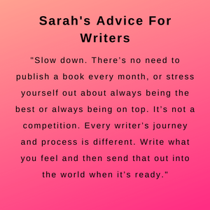 interview with author sarah robinson - her advice