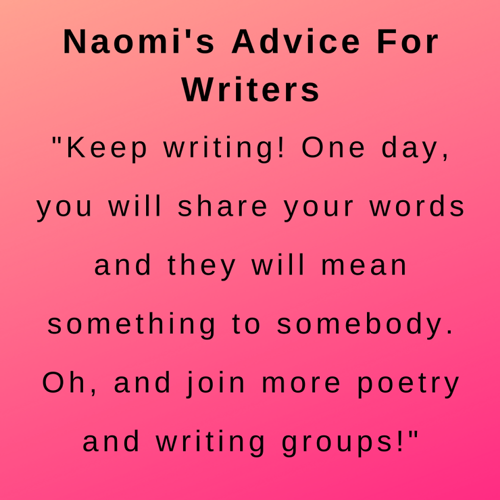 Interview with author naomi wilson - her advice