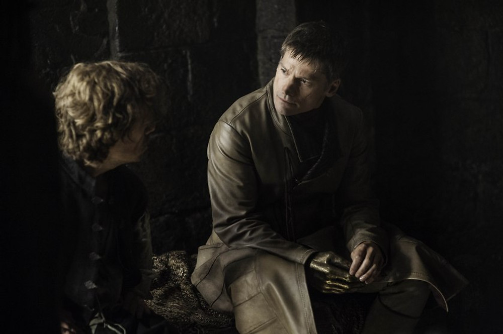 Tyrion asking Jaime: 'are you proud of yourself, brother?'