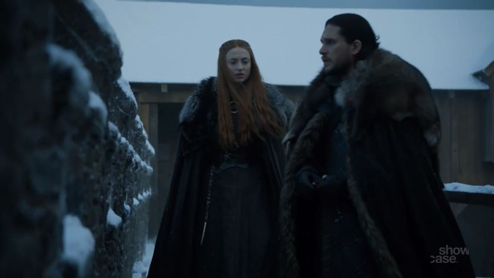 The Vale deserves a reward is the topic of conversation among Jon and Sansa.