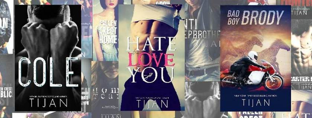 interview with the nyt bestselling author tijan - some of her many books.