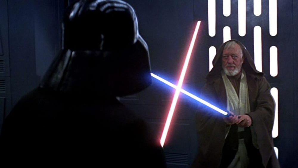 Darth Vader killing Obi-Wan is an example of how to write a death scene.