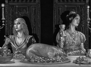 an eye for an eye - the two women who hate each other, Queen Alicent and Princess Rhaenyra