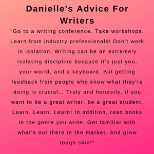 interview with author danielle harrington - her advice