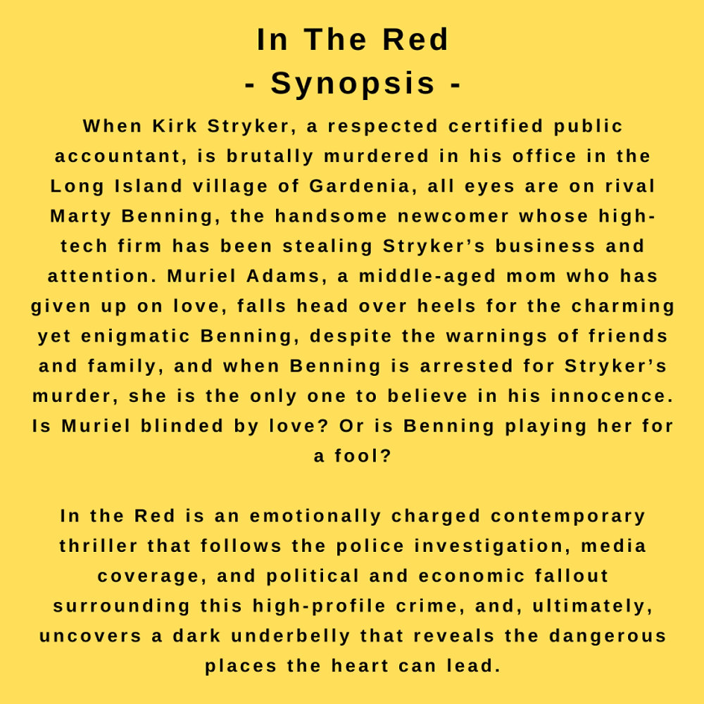 interview with author Dina Santorelli - synopsis for In The Red