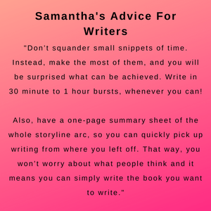 interview with author samantha goodwin - her advice