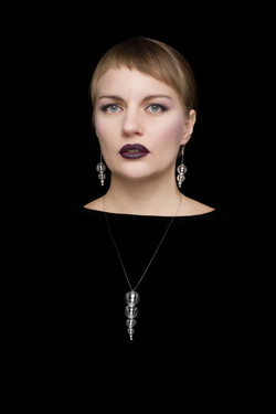 cobra tail . necklace & earring