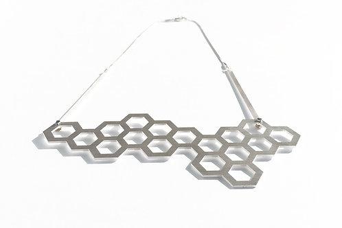 Hexagon Silver Necklace