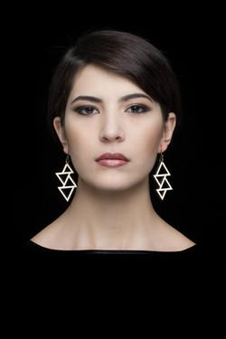 triangle . earrings