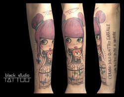 Blythe Doll Tattoo Torino
