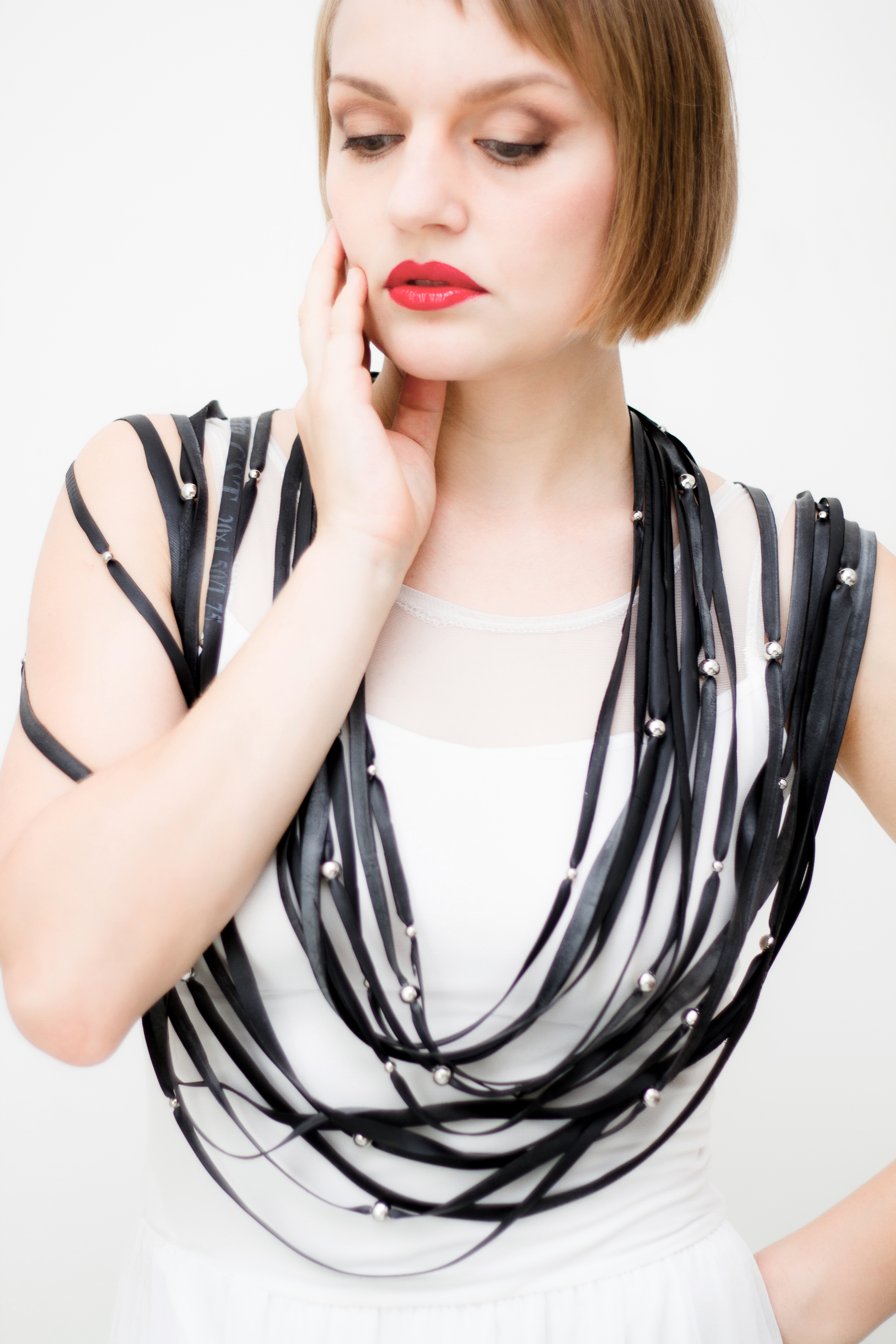 strips . necklace