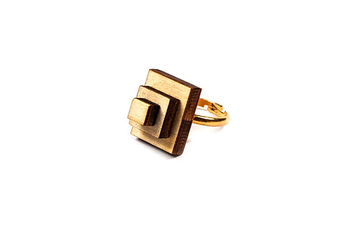 wooden RECTANGLE  ring