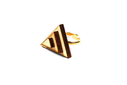 WOODEN TRIANGLE  ring