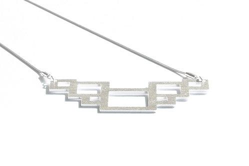 Rectangle Silver Pendant