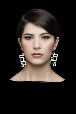 rectangle . earrings