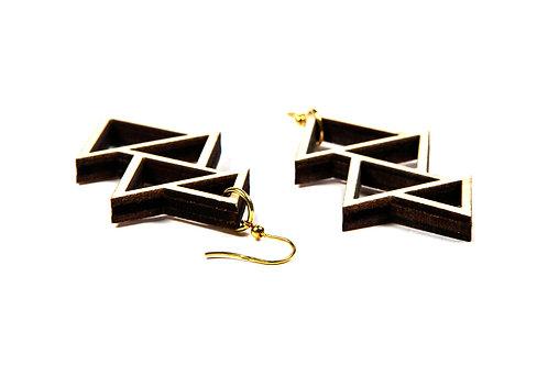 WOODEN  TRIANGLES earrings