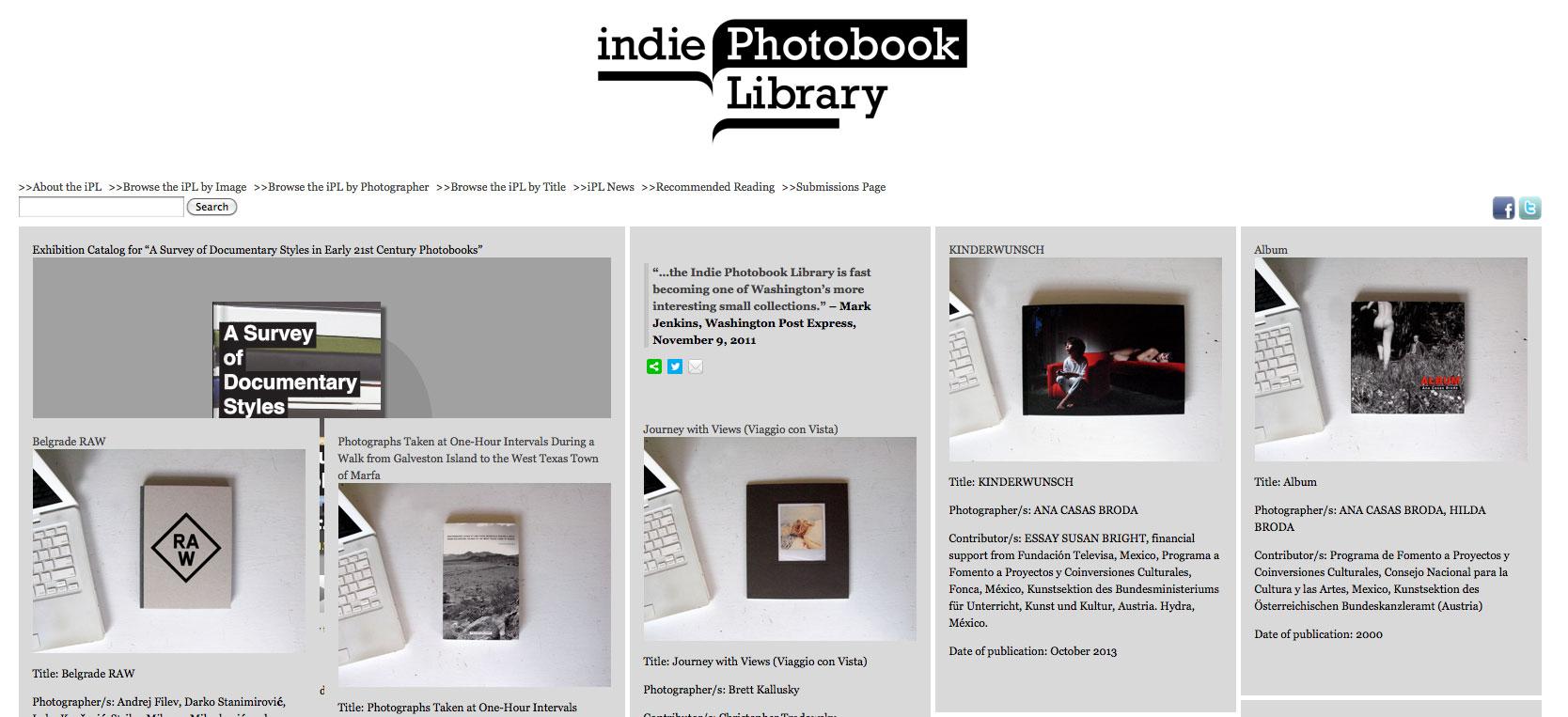 INDIE PHOTOBOOK LIBRARY
