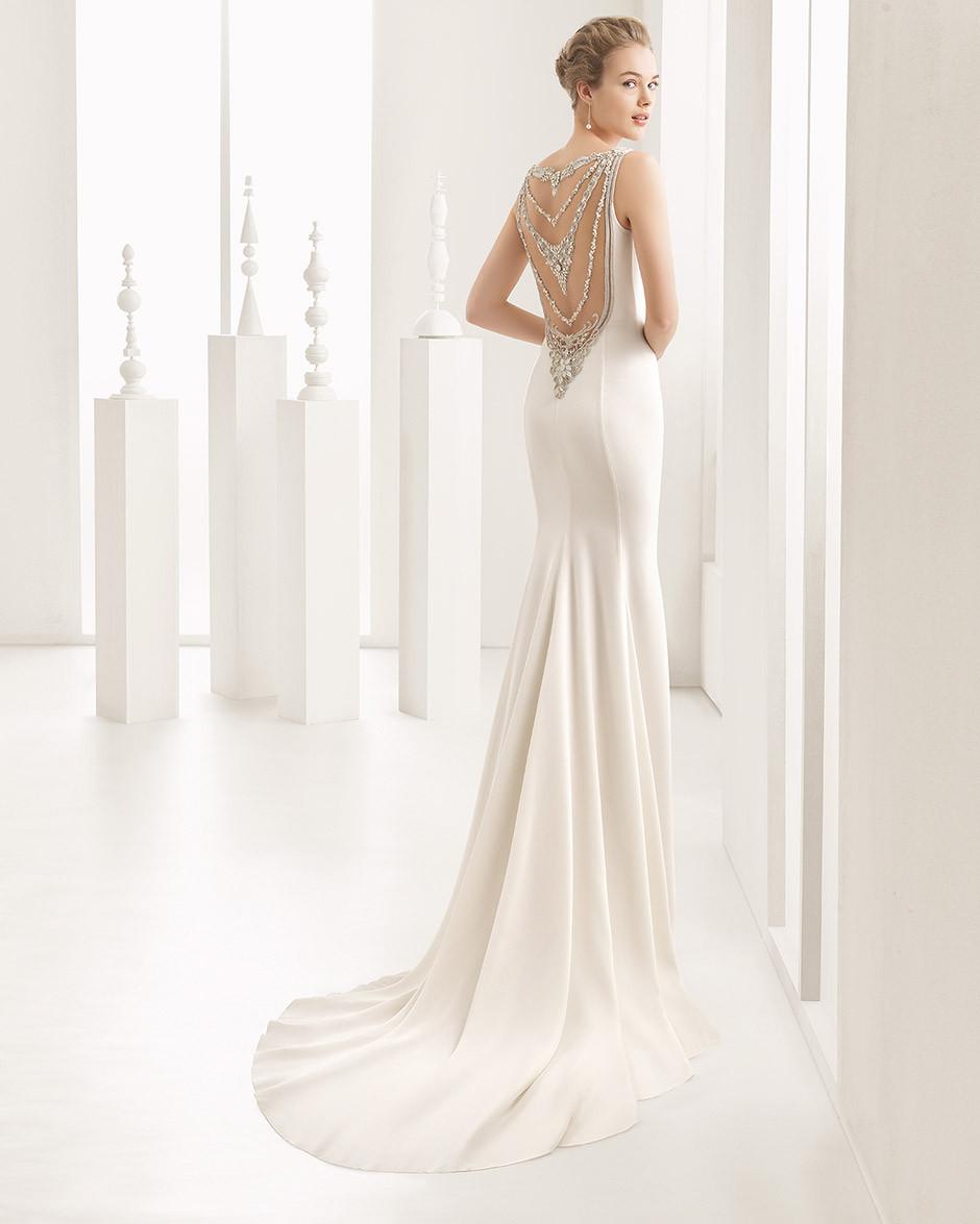 vestido novia espalda joya