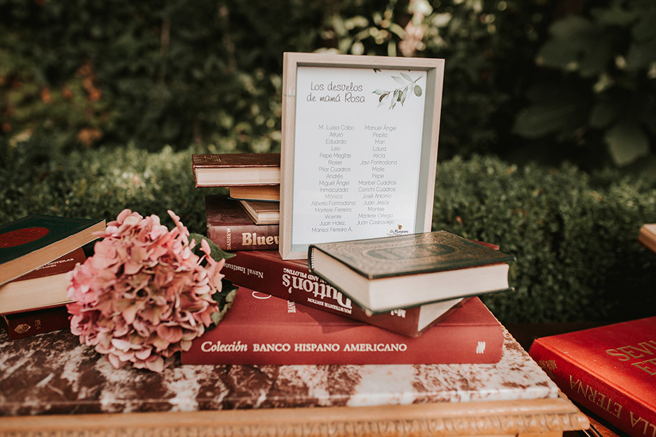 seating boda libros