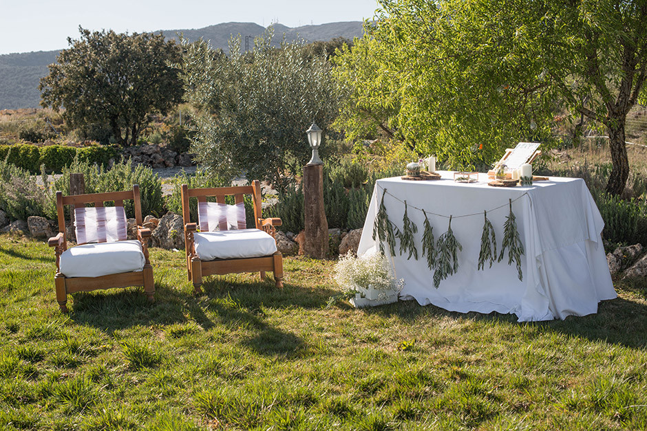 altar boda rama olivo