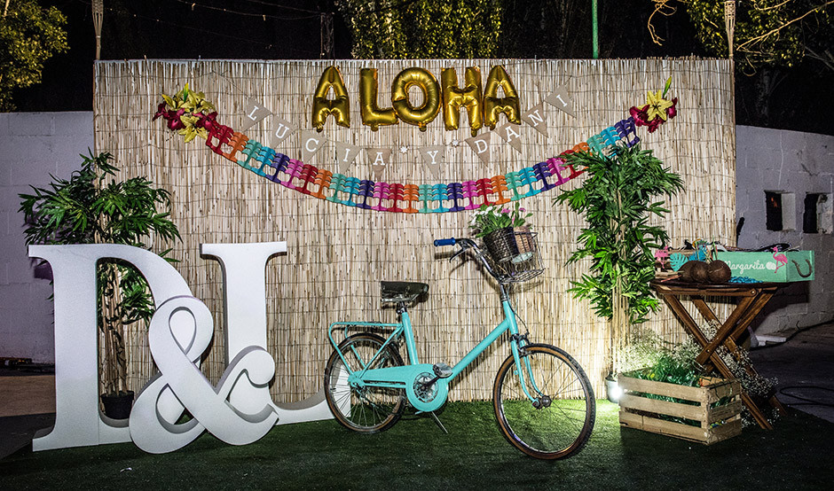 photocall boda tropical