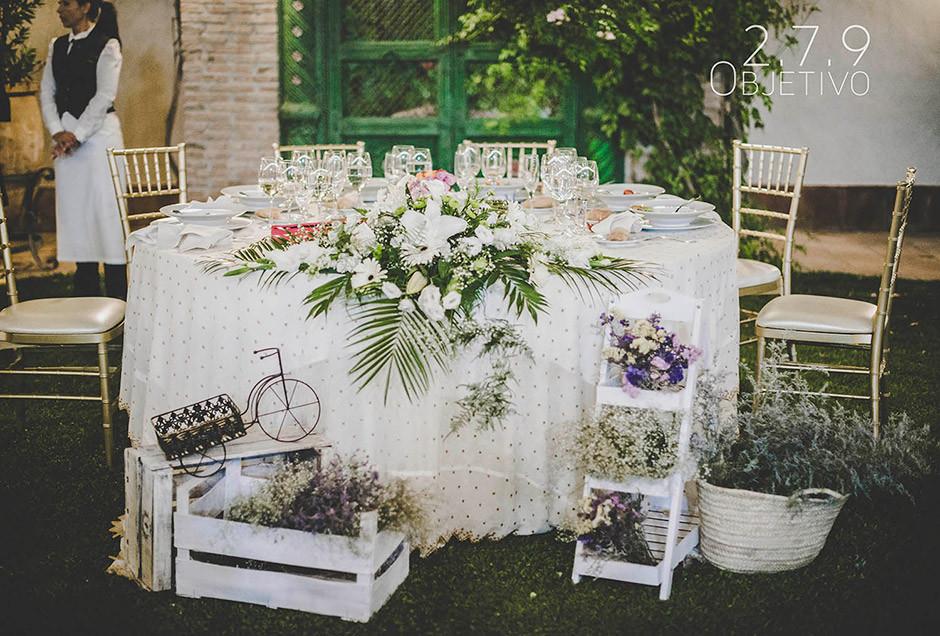 mesa presidencial redonda novios boda