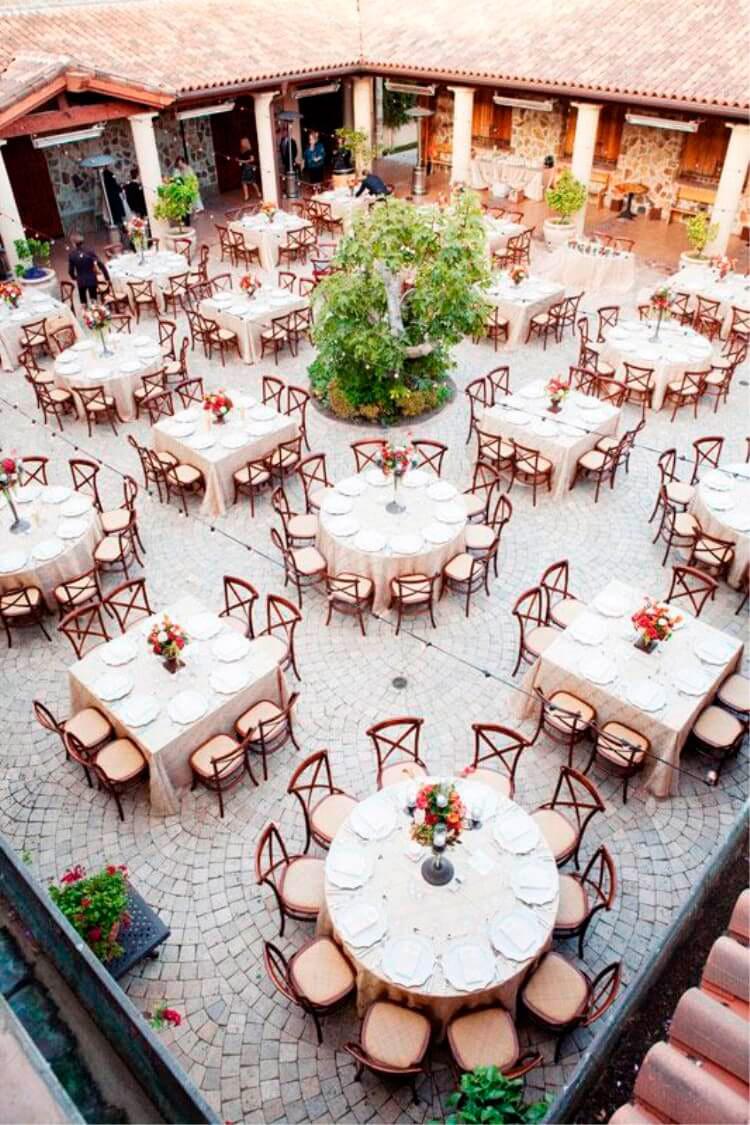 plano mesas banquete boda