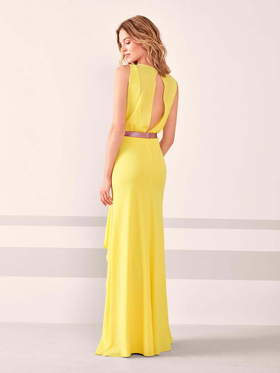 vestido fiesta boda amarillo
