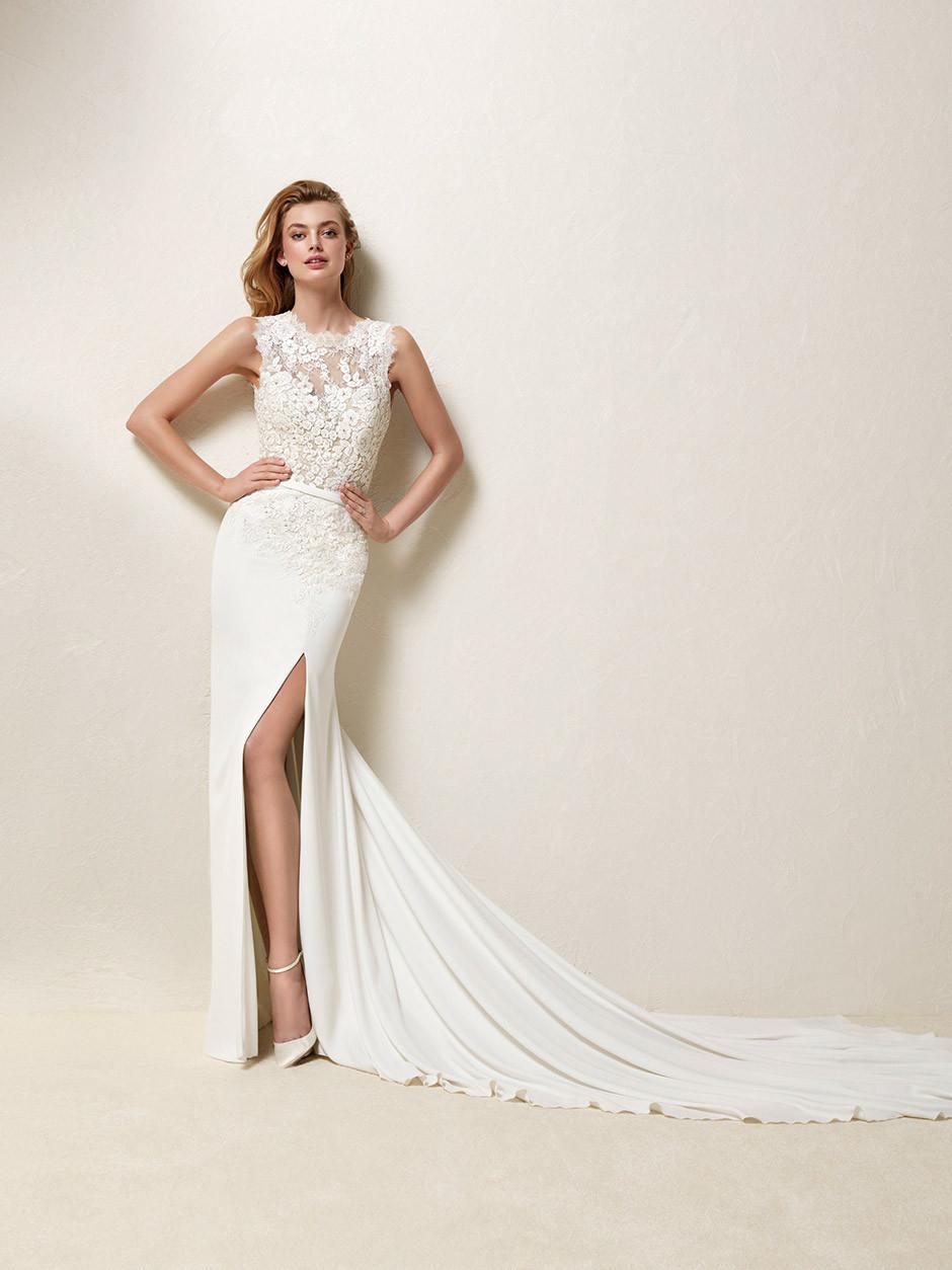 vestido novia abertura lateral