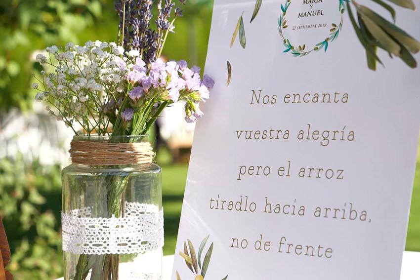 cartel arroz boda