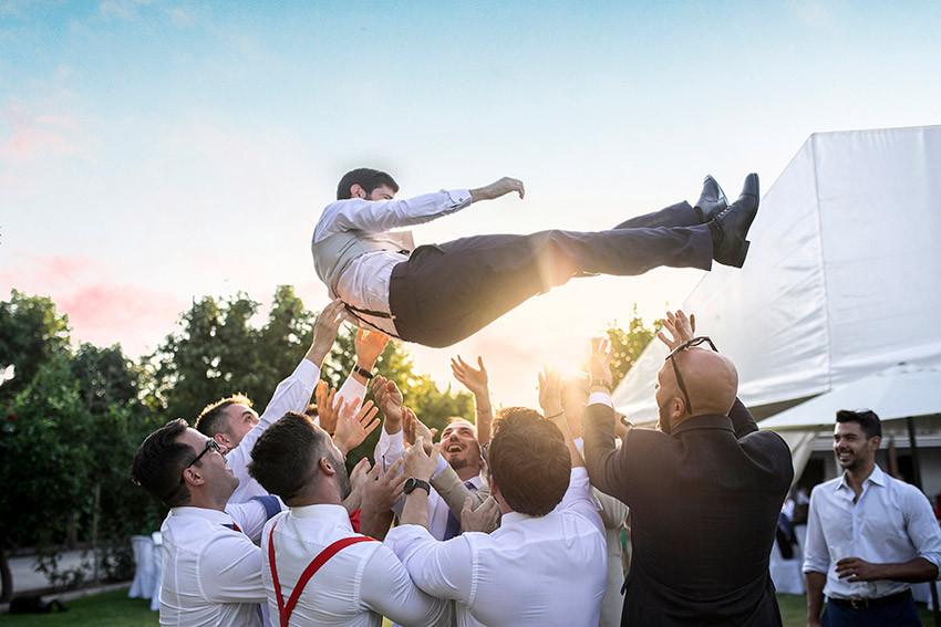 novio fiesta boda