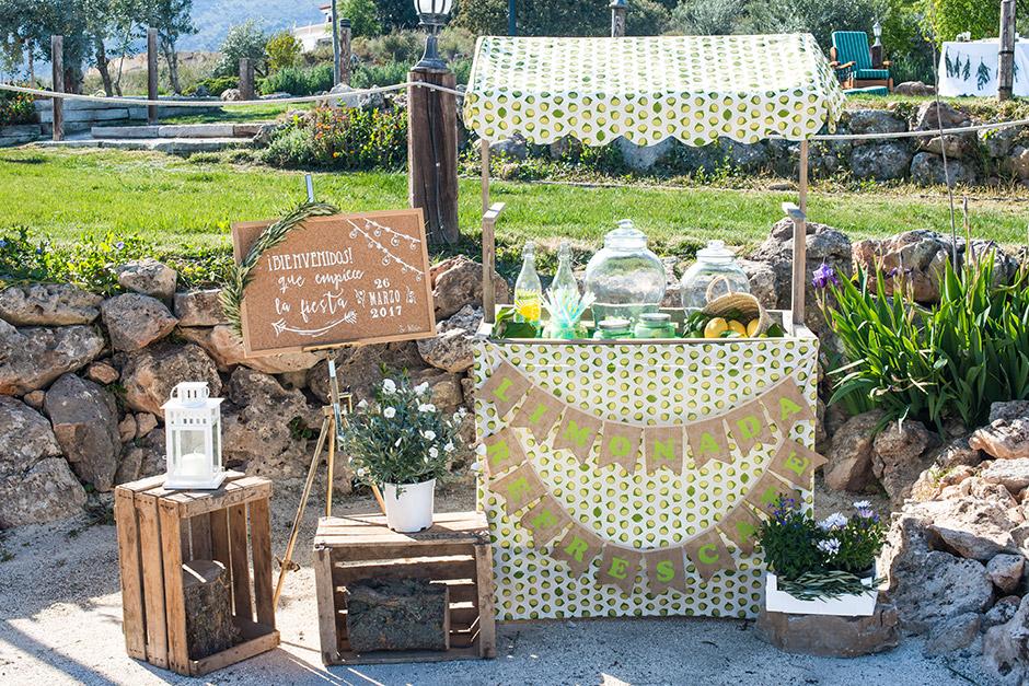 carrito limonada boda