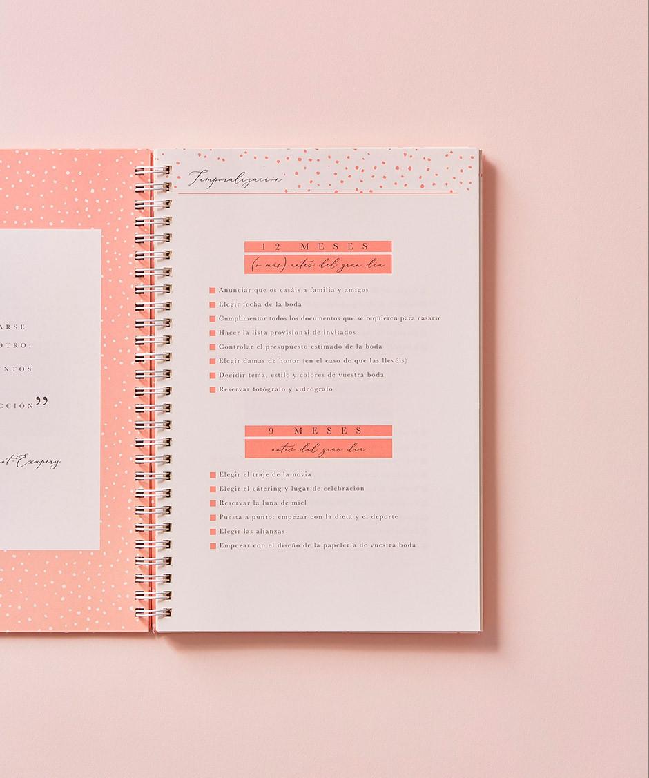 la agenda de nuestra boda Leblue