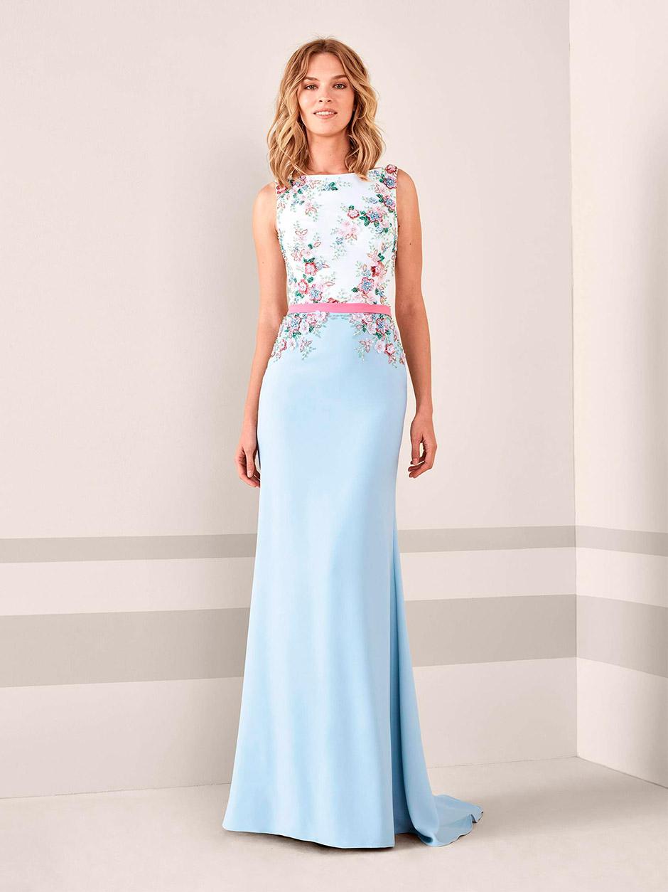 vestido fiesta boda estampado floral