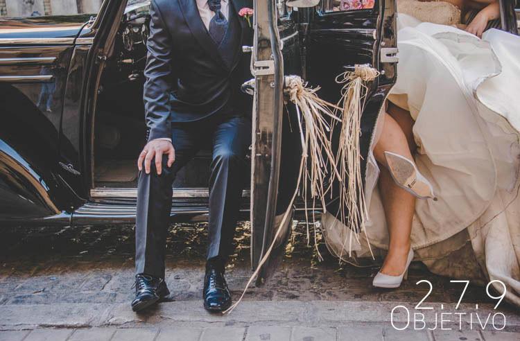 coche novios boda