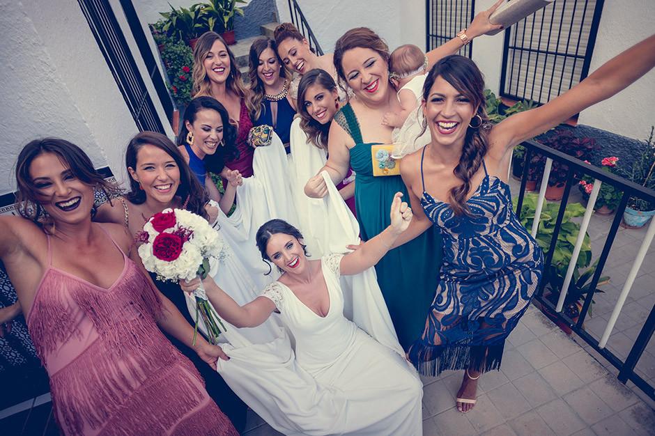 amigas novia boda