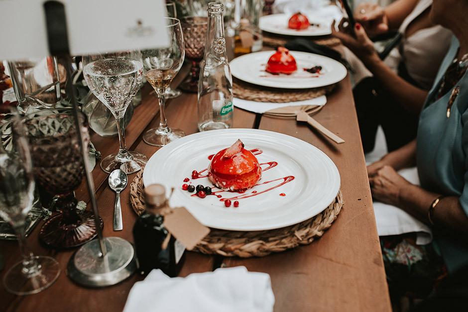 postre banquete boda