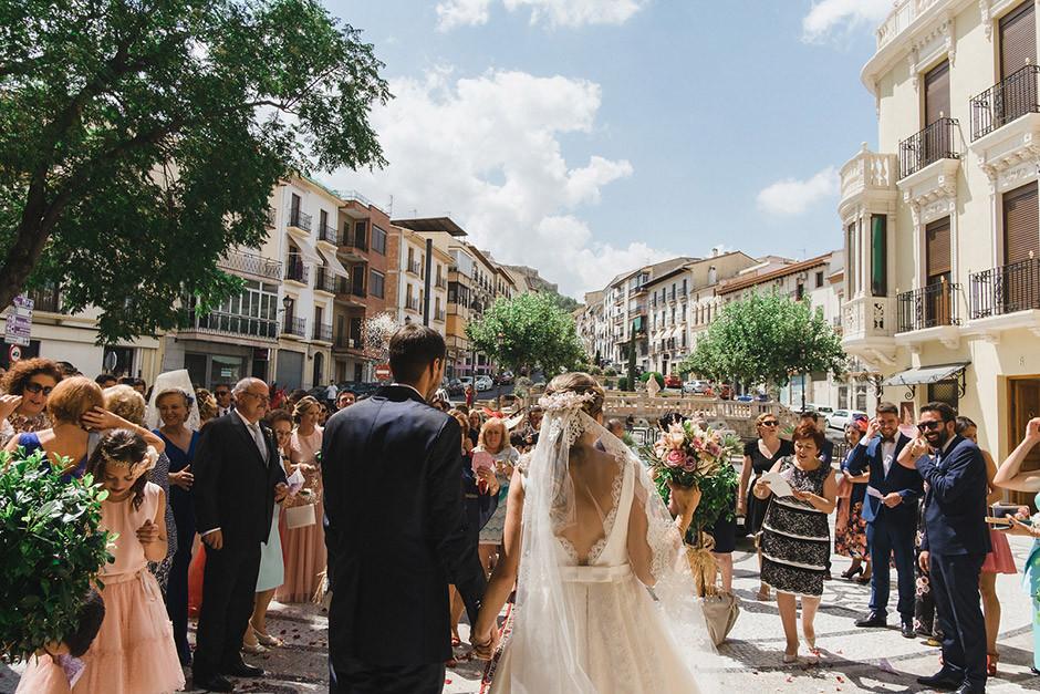 salida novios boda