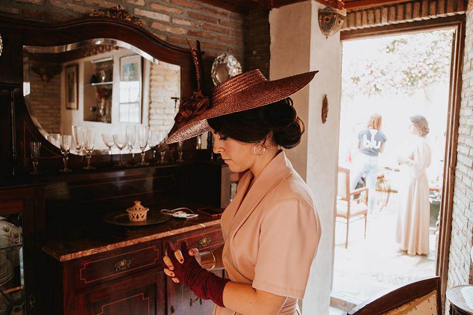 sombrero ala ancha boda