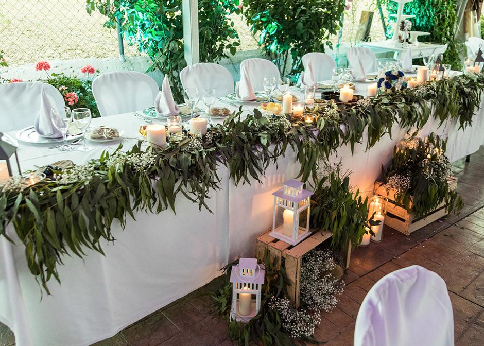 mesa presidencial boda decoracion eucalipto