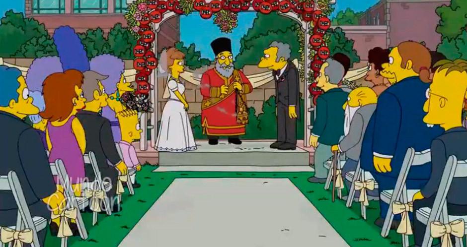boda moe los simpson