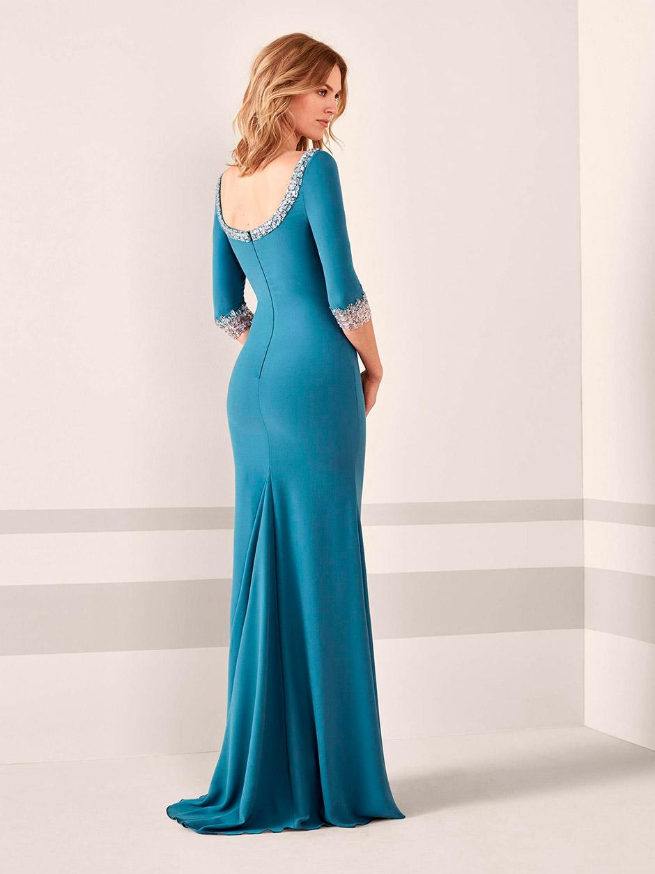 vestido fiesta boda azul