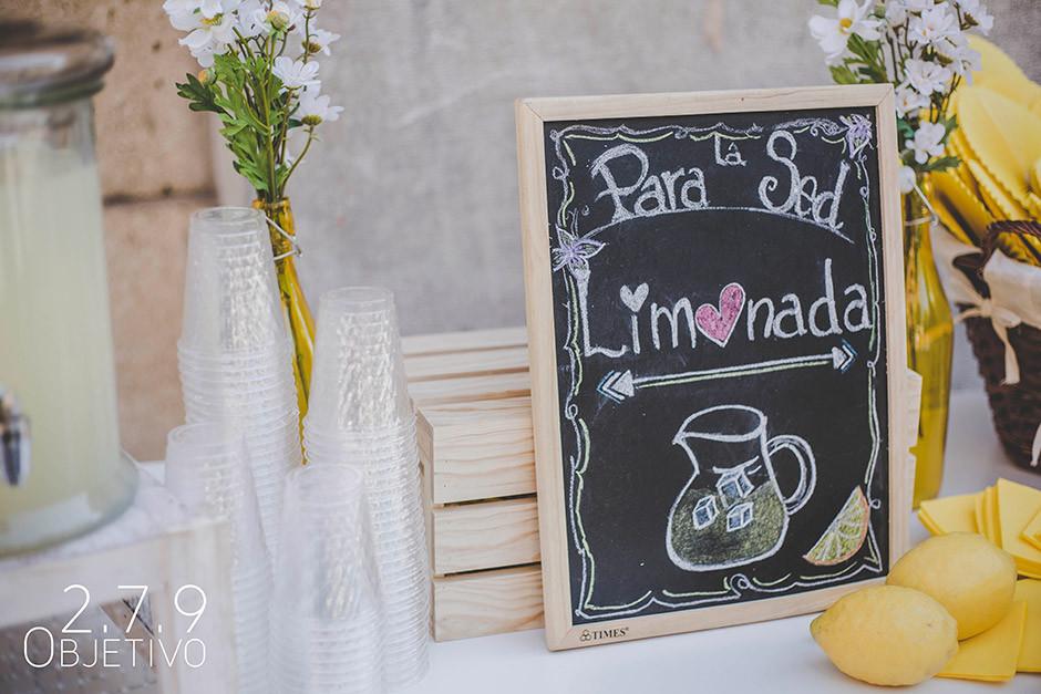 cartel carrito limonada boda