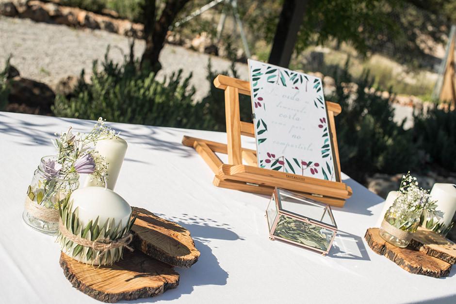 decoracion altar boda rama olivo